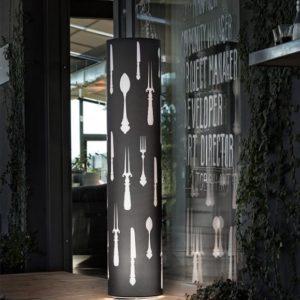 Icon TE Cutlery Lampada da Terra Nero 579x720 300x300 - Icon TE