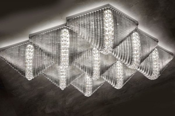 escher ceiling light metal luciitaliane
