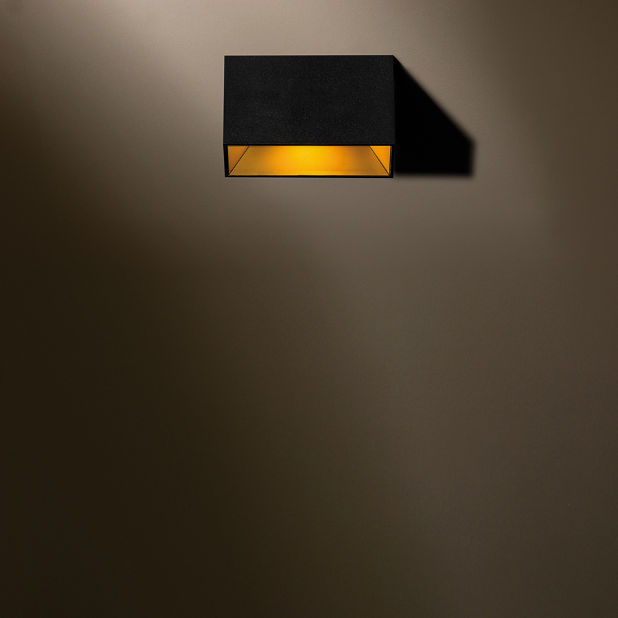boa ceiling mounted black gold product 10x10cm - Boa Ceiling