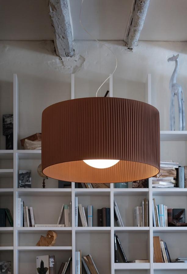 morosini fog plisse lampada sospensione 70SO brown 697x1024 - Fog Plisse SO