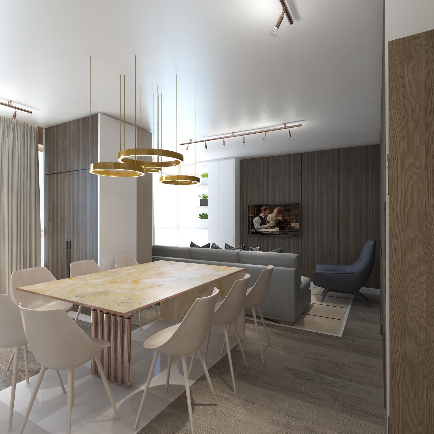 accamera 5 - Кухня-гостиная в стиле Contemporary