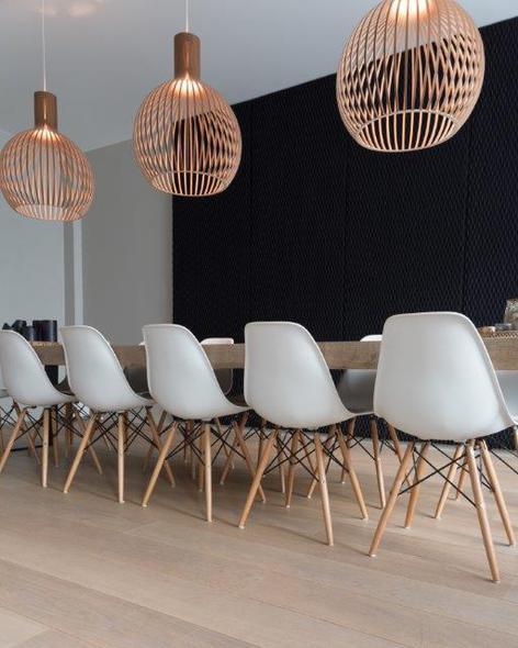 ondo black acoustic panels private house lamett parquet flooring belgium 1 - Ondo
