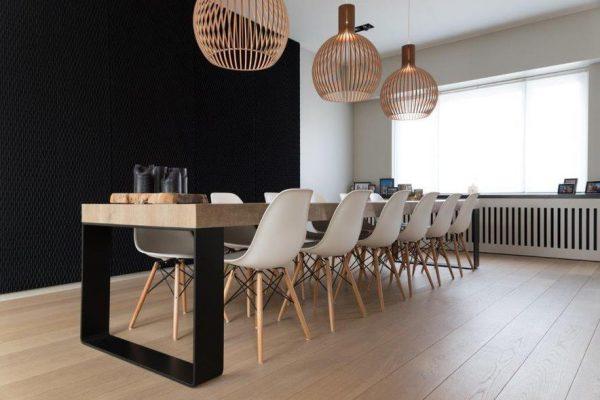 ondo black acoustic panels private house lamett parquet flooring belgium 2 600x400 - Ondo
